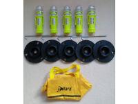 eFlare Warning Beacons (Set of 5 Blue/White flashing LED) - as used by Emergency Services