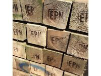 """8' 4""""x4"""" Wooden Fence Posts"""