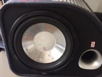 Flu sub woofer and amp 12 inch