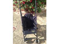 Baby k blk/leopard print stroller