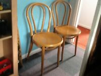 A pair of Beach bentwood chairs