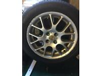 MG tyre and wheel