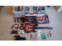 Xbox 360 S, 250GB, Guitars, Accessories & 12 Games.