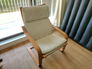 Ikea Chair and Matching Ottoman