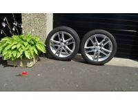 Two 17 inch wheels with tyres and pressure sensors for Hyundai i30