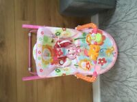 Pink bunny baby chair or rocker