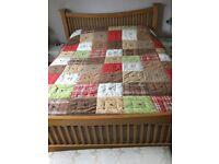 Patchwork Vintage Retro Bedspread Throw