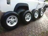 land rover alloys set of 4