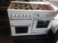 White rang master 100cm gas cooker grill & double oven good condition with guarantee