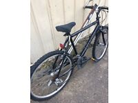 Old rusty mountain bike