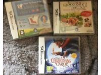 DS GAMES £5 Each or £10 All 3 GAMES A christmas carol How to pass your driving test cooking coach