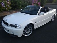BMW 320ci M SPORT CONVERTIBLE, FACTORY WHITE, LOW MILEAGE, MANUAL, LONG MOT, ALLOYS, ELECTRIC PACK