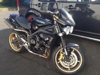 TRIUMPH STREET TRIPLE R 2010 FULLY LOADED FSH 2 KEYS REMUS PX SPEED TRIPLE NAKED UPRIGHT TUONO