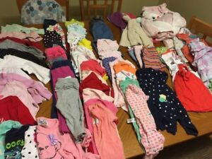 Lot of 18-24 month girl clothing - 90 items