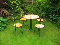 NEWLY REFURBISHED - FRENCH CHIC -PINE TABLE & 4 CHAIRS (DELIVERY AVAILABLE)