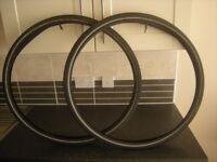 Bike tyres 𝐧𝐨𝐭 wheels, road/commuter 700x35c 27 inch innertube + caps, two £20 one £10 x
