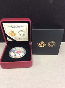 Royal Canadian Mint - 2015 Silver Coin - Winter Scene