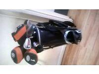 childs Slazenger full set of golf clubs and bag