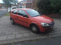 Vauxhall corsa 1.2 16v red