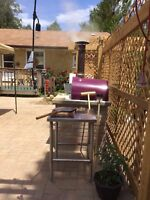 Wood fired pizza oven patio