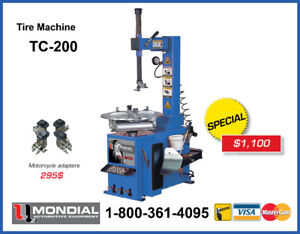 NEW Tire Changer/ Tire Machine TC-200 MONDIAL with WARRANTY