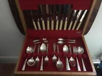 Bone handle silver Cutlery set