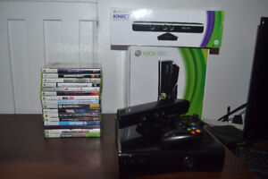 XBOX 360 (250 Go+ MANETTE + KINECT + 15 JEUX)