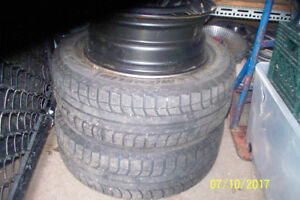 4 TOYOTA 15 INCH RIMS 5 BOLT HOLE2 OF THEM HAVE TIRES