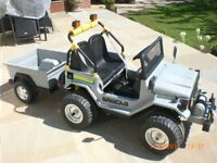 childs electric jeep and trailer electric car