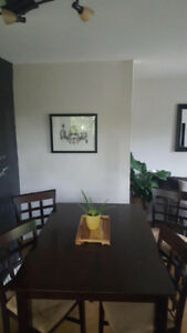 Moving sale! Pub table and 4 chairs