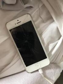 Unlocked iPhone 5s (smashed)