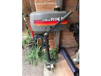 Marina 2 hp Outboard motor engine boat