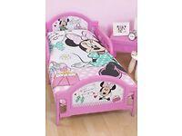 Minnie Mouse toddler bed & mattress