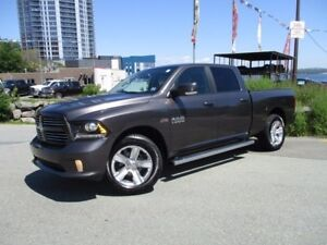 2015 RAM 1500 Sport HEMI (NAVIGATION, REVERSE CAM, HEATED SEATS,