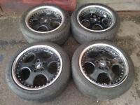 R17 Genuine WORK VS-SD Wheels * 3 piece splits * Staggered