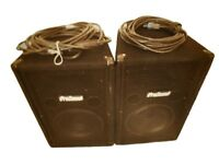 Pro sound speakers and leads x2