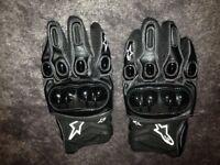 alpinestar gloves hard knuckle motocross trials
