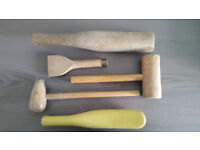 Set of 5 Lead Roofing Tools