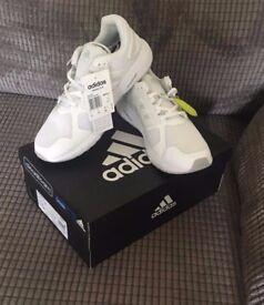 SIZE 9 Unworn White Adidas Trainers