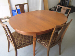 Solid Wood Dining Rm Table and China Cabinet