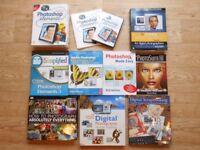 Photography Books Manuals Disc Adobe Photoshop Digital Scrapbooking JOB LOT X9
