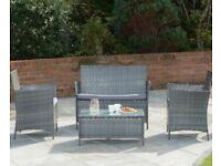 Rattan effect furniture set