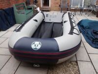 INFLATABLE DINGHY YAM 400S , 4 METER , 6 MAN DINGY , TENDER RIB SIB FISHING BOAT , OUTBOARD TRANSOM