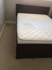 Double bed with boxes for sale