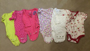 3 month girls onesies in great condition!