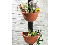 Set of 2 Pipe Pots (H15cm x W 29cm) (NEW)