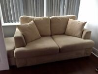 DFS 'Freya' two seater sofa x2 and a matching foot stool!