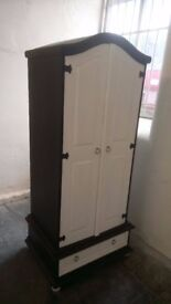 Painted SOLID panelled pine single wardrobe £75 CHEAP local DELIVERY Stalybridge SK15 2PT