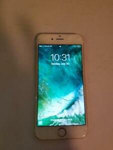 Iphone 6 64gb Unlocked - cracked screen