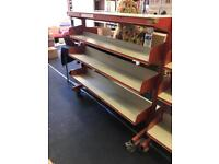 Metal shelving on wheels - retail commercial use